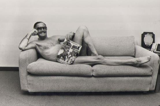 There you go. Stan Lee on  couch.